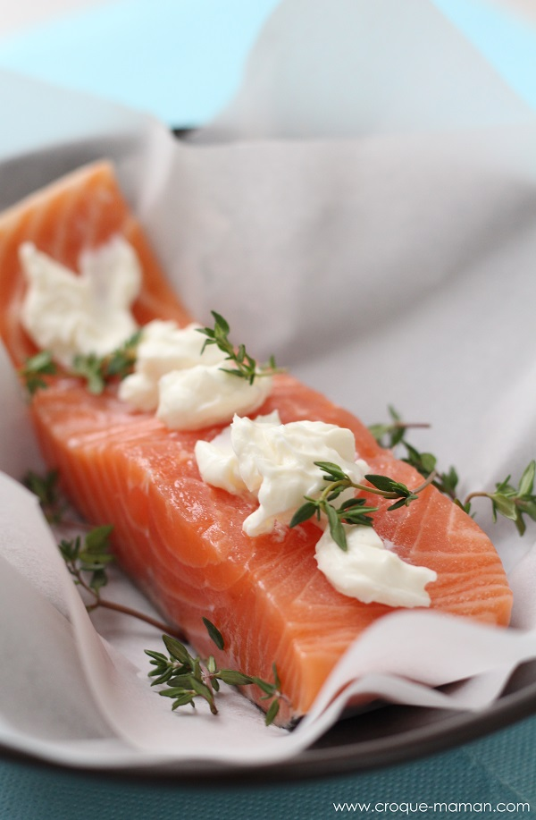 Quick and easy saumon en papillote croque maman - Saumon en papillote ...
