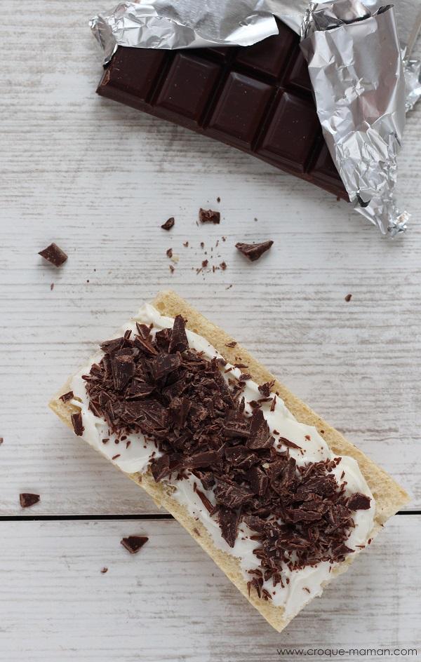 Tartine aux copeaux de chocolat - Croque-Maman