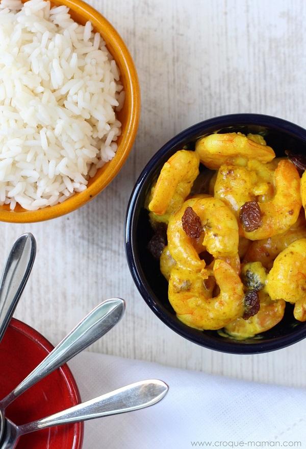 5-minute prawn curry - Croque-Maman