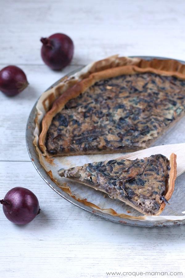 La tarte aux oignons - Onion tart - Croque-Maman
