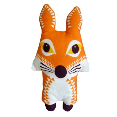 2-in-1 tea towel & stuffed toy, organic cotton – Fox