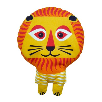 2-in-1 tea towel & stuffed toy, organic cotton – Lion