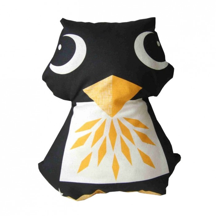 2-in-1 tea towel & stuffed toy, organic cotton – Penguin