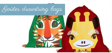 (6) Gouter drawstring bags
