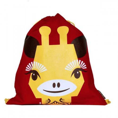 Children's drawstring goûter bag SQ - Giraffe