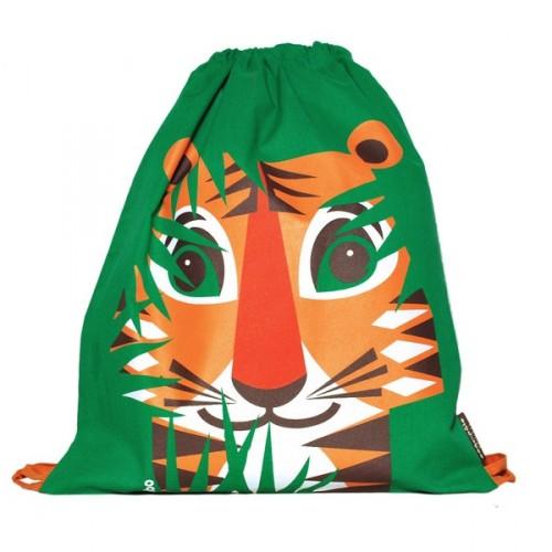 Children's drawstring goûter bag - Tiger