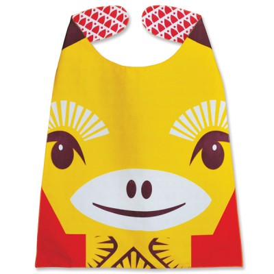French toddler bib, organic cotton – Giraffe