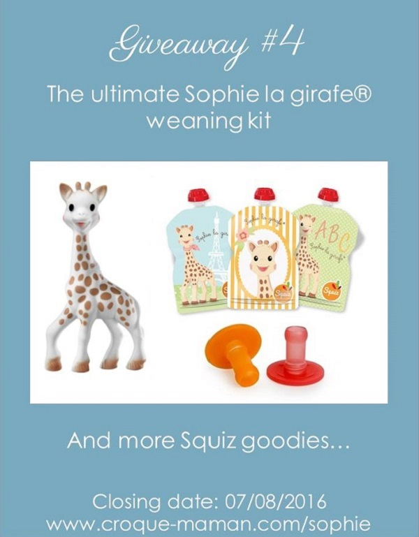 Giveaway - The utlimate Sophie la girafe weaning kit - Squiz - Croque-Maman (rectangle)