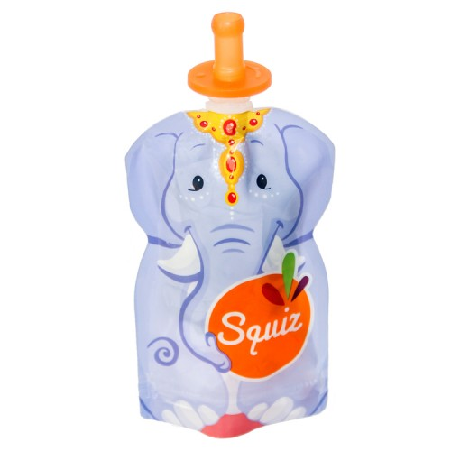 Soft tops for baby food pouches – Set of 2 – Squiz' Tops - on bottle