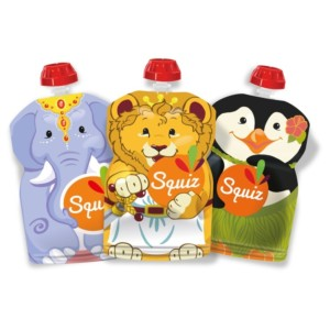 Squiz reusable food pouches - Animals - Carnival - 130ml