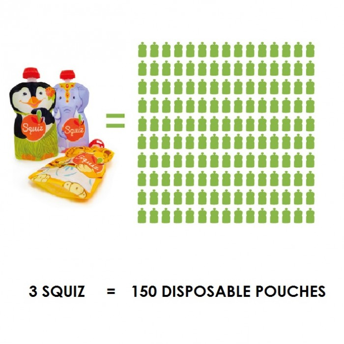 Reusable food pouches for toddlers & children – Set of 3 – Carnival