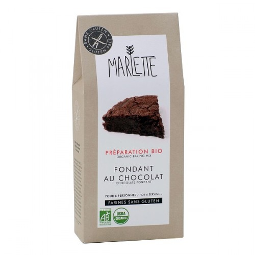 Gluten-free chocolate fondant baking mix (packaging) - Marlette