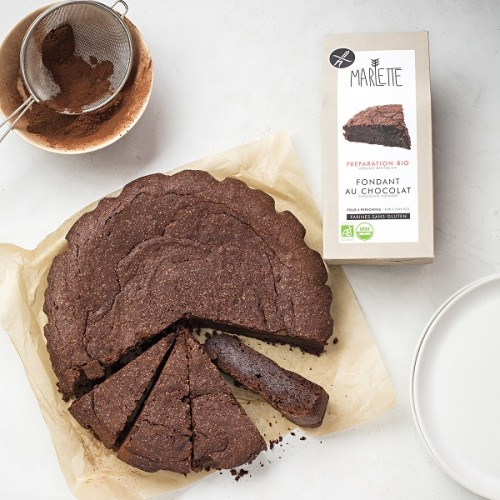 Gluten-free chocolate fondant baking mix (plate coffee) - Marlette