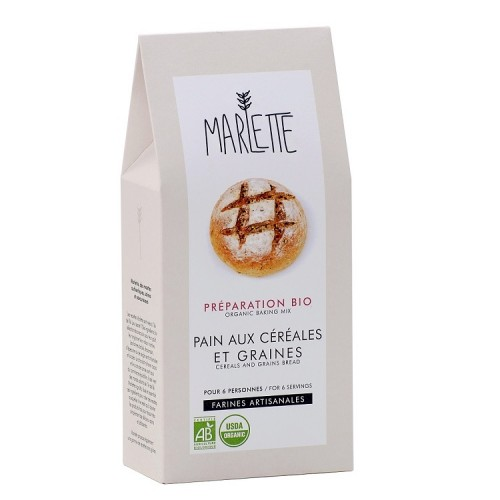 Cereals and grains bread (packaging) - Marlette - Croque-Maman
