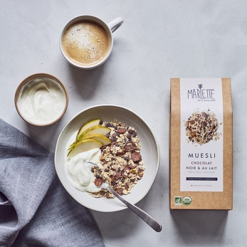 Organic dark and milk chocolate muesli (bowl) - Marlette