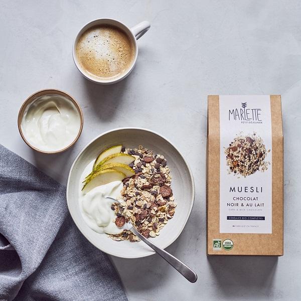 Organic dark and milk chocolate muesli – Marlette