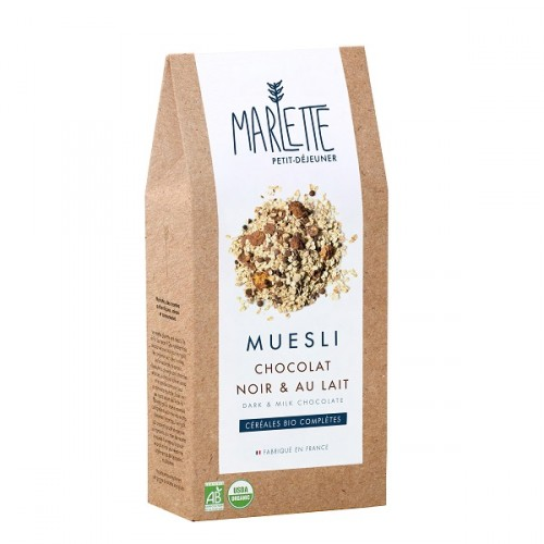 Organic dark and milk chocolate muesli (packaging) - Marlette