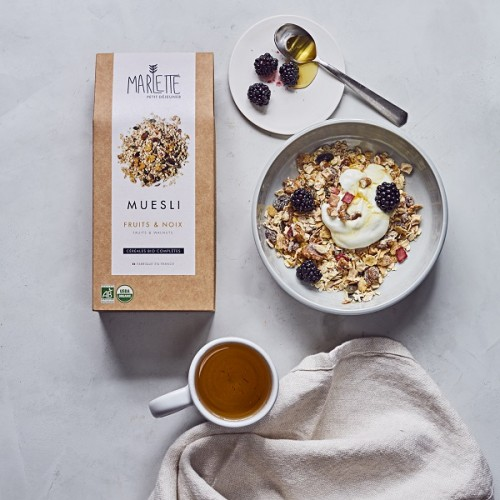 Organic fruit and nut chocolate muesli (bowl) - Marlette