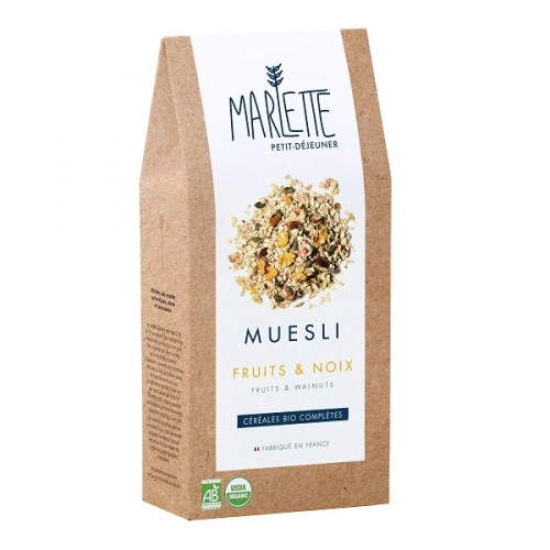 Organic fruit and nut muesli (packaging) - Marlette