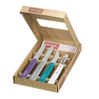 "Kitchen knives box set ""Les Essentiels"" - Art déco - Opinel (opened box)"