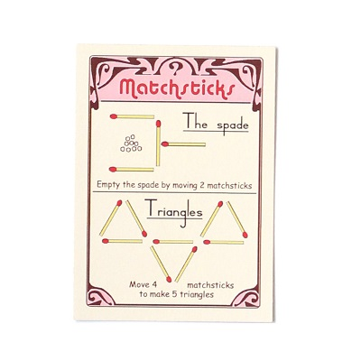 Matchsticks - Card Front - Marc Vidal - Croque-Maman