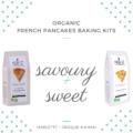 Organic French pancakes baking kits – 2-pack - savoury & sweet (grey) – Marlette