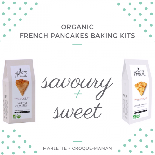 Organic French pancakes baking kits – 2-pack - savoury & sweet (grey) – Marlette