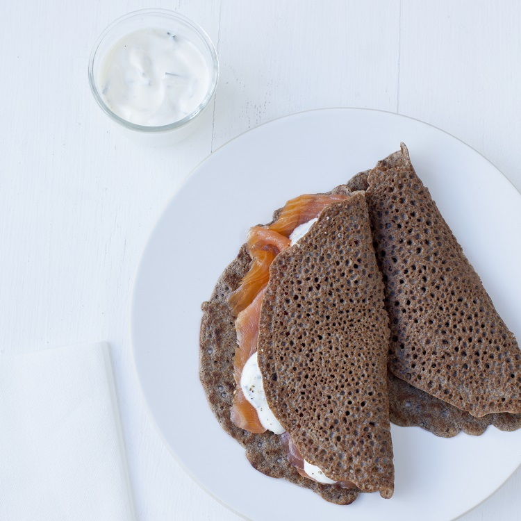Organic buckwheat crepes pancakes galettes baking kit (smoked salmon and cream cheese) - Marlette - Croque-Maman
