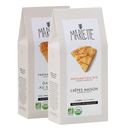 Organic crepes pancakes baking kit (standard and buckwheat kit) - Frenchies pack - Marlette - Croque-Maman