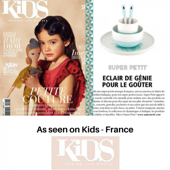 Children's dinner set - bamboo and silicone - Iceberg - As seen in Kids magazine