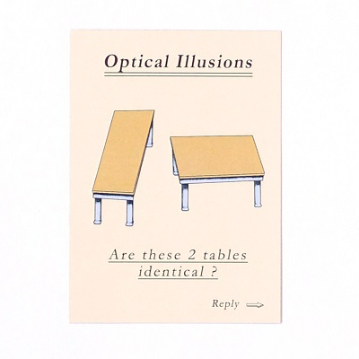 Optical illusions family table game – Marc Vidal