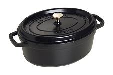 STAUB Cocotte Oval 29cm Black
