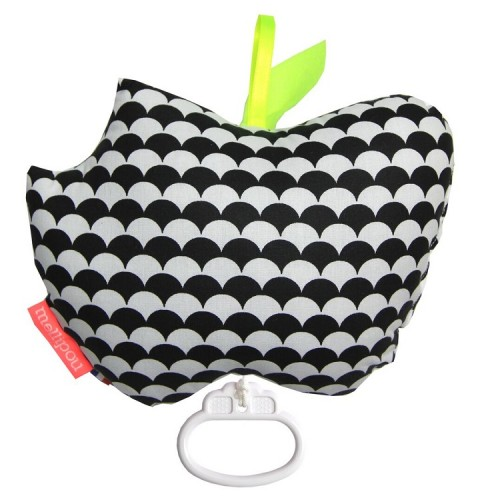 Apple musical cot toy – Kay black – Mellipou