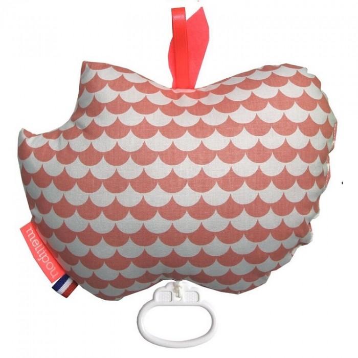 Apple musical cot toy – Kay coral – Mellipou