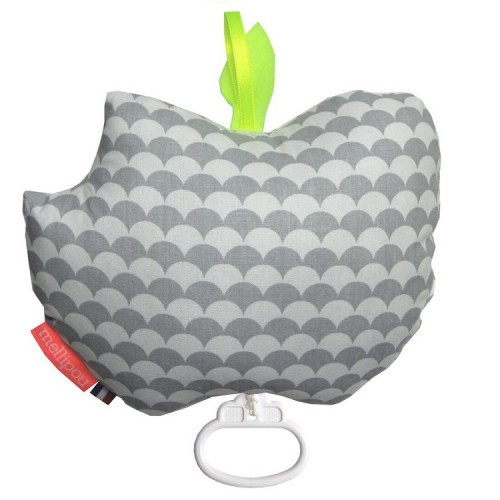 Apple musical cot toy – Kay grey – Mellipou