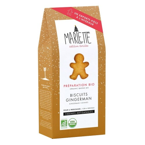 Organic Christmas gingerman bicuits bread (packaging) - Marlette - Croque-Maman