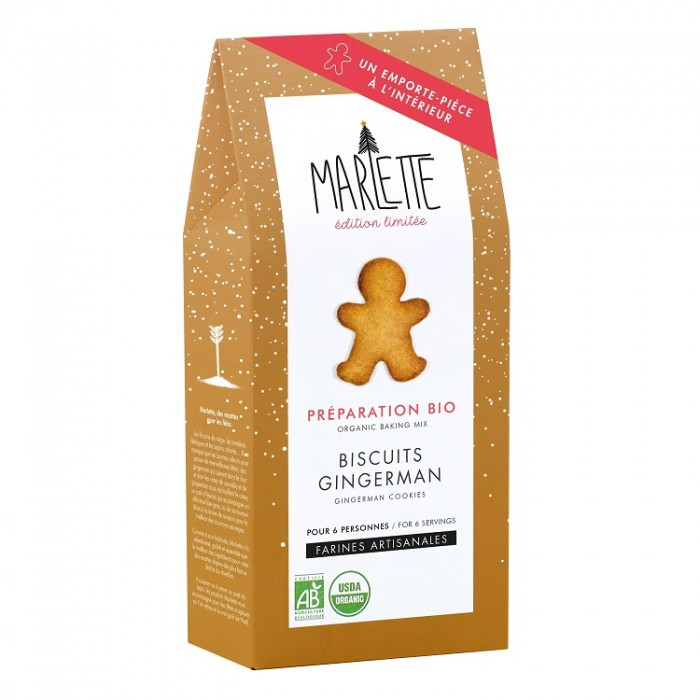 Organic gingerbread cookies baking mix, with cookie cutter – Marlette