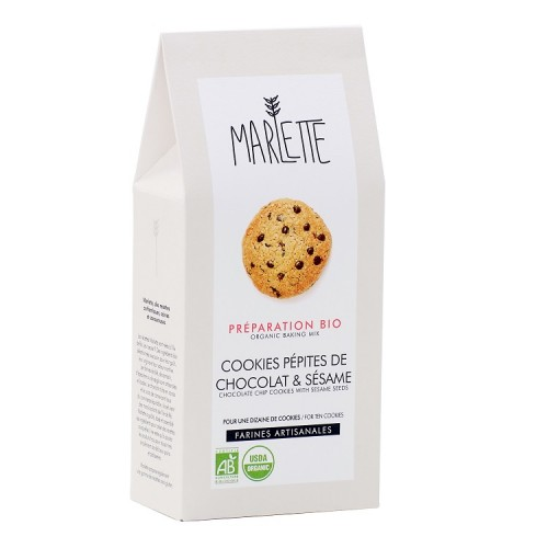 Organic sesame chocolate chip cookies (packaging) - Marlette - Croque-Maman