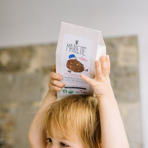 Organic chocolate hazelnut cookies baking mix (child) - Marlette - Mathilde Cabanas - Croque-Maman