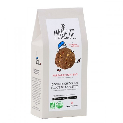 Organic chocolate hazelnut cookies baking mix (packaging) - Marlette - Mathilde Cabanas - Croque-Maman