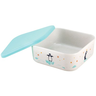 Snack box – bamboo and silicone – Iceberg