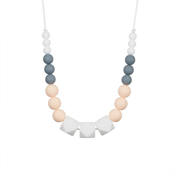 Marie teething necklace for mum, powdery pink – MintyWendy