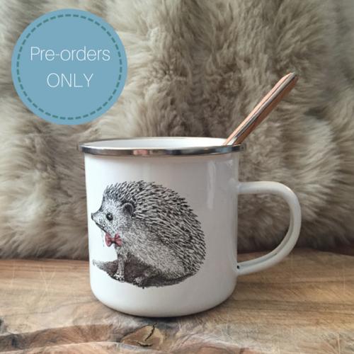 Children's enamel mug – Miss and Master Hedgehog