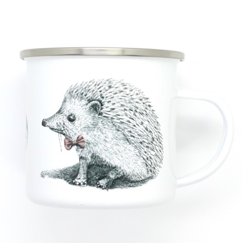 Children's enamel mug – Miss and Master Hedgehog