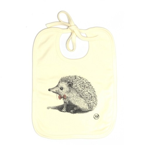 Organic cotton baby bib – Master Hedgehog