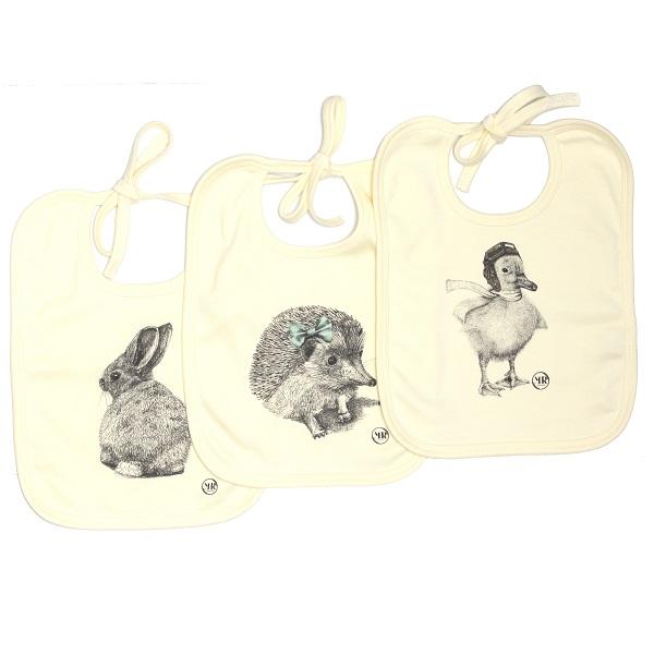 Organic cotton baby bib – Bunny