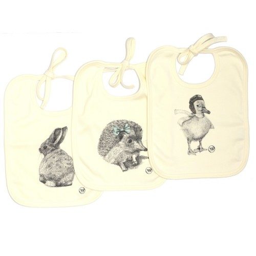 Organic cotton baby bib – Miss Hedgehog