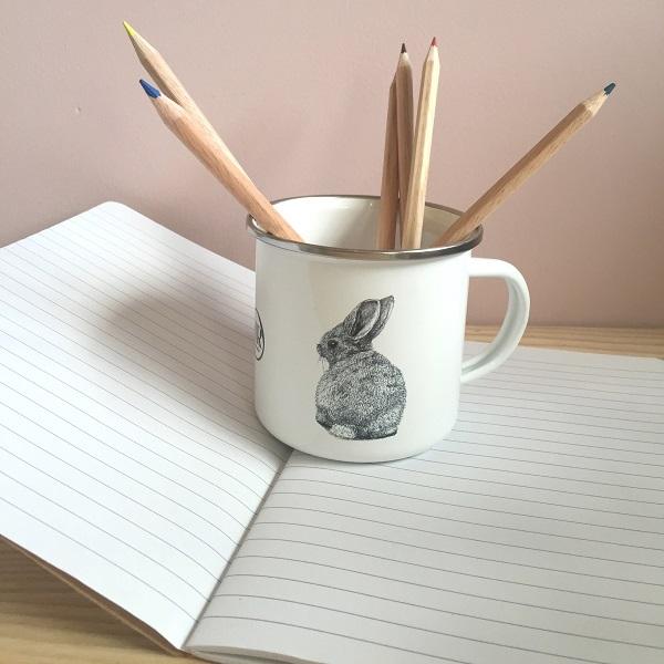 Children's enamel mug – Bunny