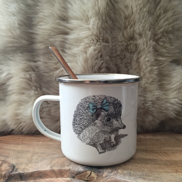 Children's enamel mug – Miss and Master Hedgehog - Croque-Maman - Mr Naturaliste - 1