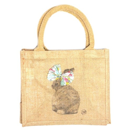 Children jute shopping bag – Miss Bunny